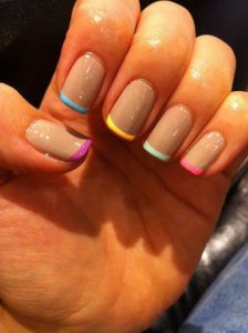Go For The Multicolored Bright Gel At Tips Colors Are Always Attractive They Will Not Easily Chip Or Imperfections Also