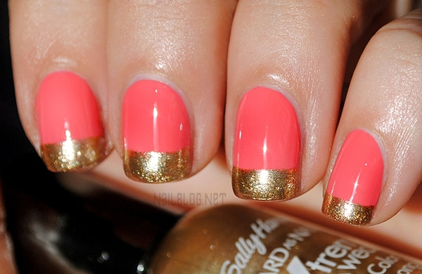 Notd Gold Dipped Coral Nails Redesigned