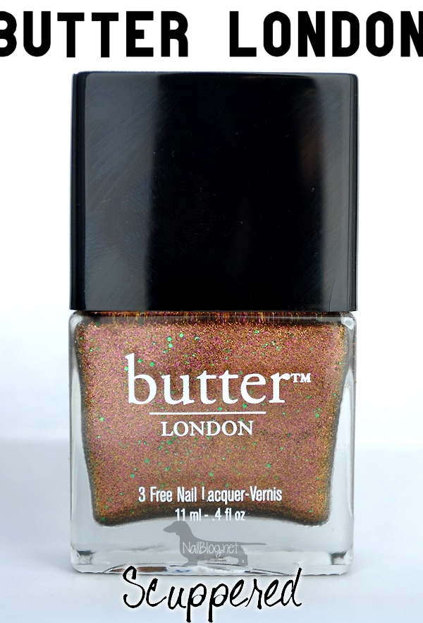 """Butter London Holiday 2012 """"Scuppered"""" Swatches - Nails Redesigned"""