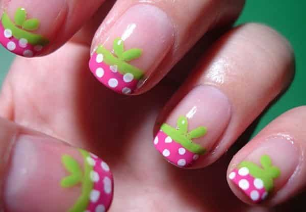 Strawberry French Tips Nails Redesigned