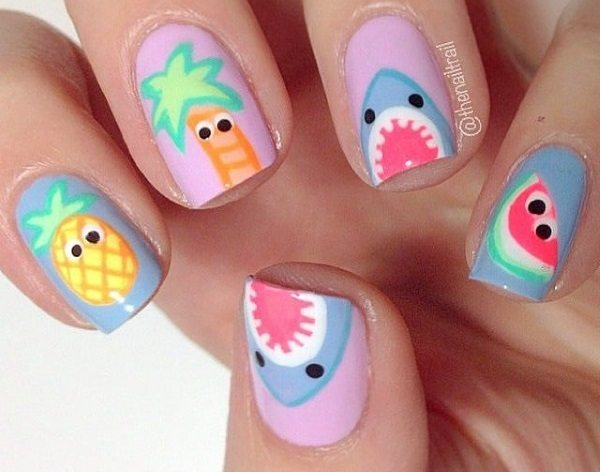 Ropical Shark Nail Art Nails Redesigned