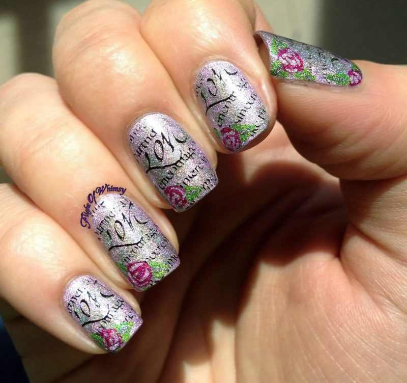 love letter nail art designs nails redesigned