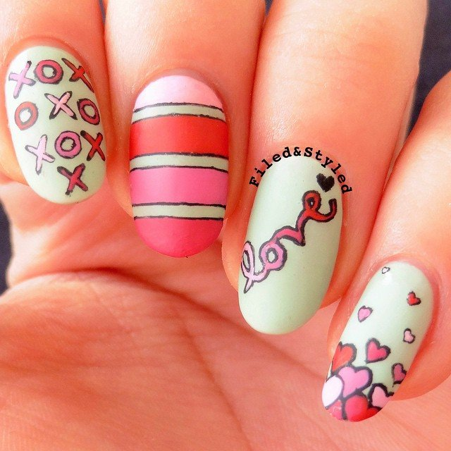 Playful Nail Art Designs For Valentines Day Nails Redesigned
