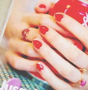 Red Hearts And Lots Of Love Nail Designs Nails Redesigned