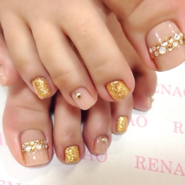 Glitter Rhinestone Gem Nails - Nails Redesigned